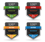 Web Banner Button vector set Stock Photos