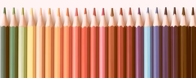 Web banner of colored pencils series background Royalty Free Stock Photos