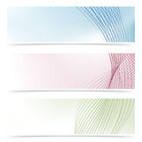 Web banner colorful flyers collection - headers or footers Stock Image