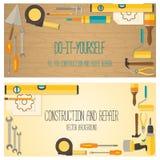 Web banner concept of DIY shop Royalty Free Stock Photos