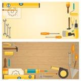 Web banner concept of DIY shop. Stock Photos