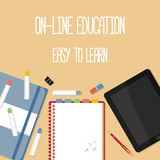Web banner concept for online education Royalty Free Stock Photo