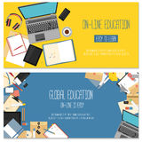 Web banner concept for online education Royalty Free Stock Photography