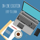 Web banner concept for online education Royalty Free Stock Photos