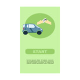 Web banner design for car sharing site or advertisement. Vector ad background of car sharing services Stock Photography