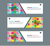 Web banner design template vector illustration, Geometric background, Abstract texture, advetisement layout. Advertising header for website. Graphic for royalty free illustration