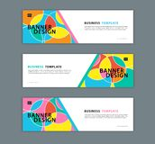 Web banner design template vector illustration, Geometric background, Abstract texture, advetisement layout stock illustration