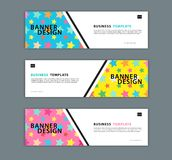 Web banner design template vector illustration, Geometric background, Abstract texture, advetisement layout vector illustration