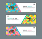 Web banner design template vector illustration, Geometric background, Abstract texture, advetisement layout. advertising header royalty free illustration