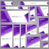 Web Banner Design Template Vector Set. Design vector illustration
