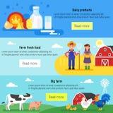 Web banner. Farm, farmers, farm Royalty Free Stock Images