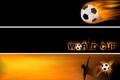 Web banner for football and the world cup Stock Photos