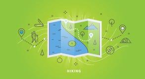 Web banner of hiking royalty free illustration