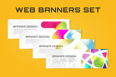 Web banner infographic template set. Processes Stock Photography