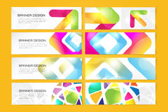 Web banner infographic template set. Processes Royalty Free Stock Photo