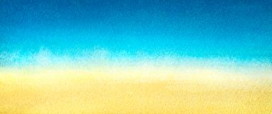 Free Web Banner Light Blue To Warm Yellow Abstract Sea And Beach Gradient Painted In Watercolor On Clean White Background Royalty Free Stock Photo - 110524435