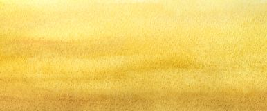 Web banner light warm yellow abstract beach gradient painted in watercolor.  Stock Photo
