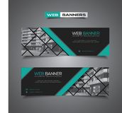 Web banner with modern design and masked area for any image Royalty Free Stock Photo