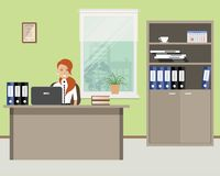 Web banner of an office worker Stock Image