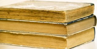 Web banner of old books Royalty Free Stock Photos