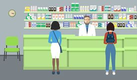 Web banner of a pharmacist Stock Images