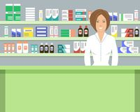 Web banner of a pharmacist Royalty Free Stock Photo