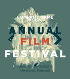 Web banner or print poster for annual film festival. Announcement. great concept for movies advertisement. vector illustration, vector background Royalty Free Stock Images