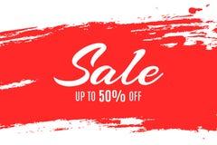 Web banner for sale. Red grunge line. Red spot. Big discounts. Special offer. Background for your project. Vector illustration. EPS 10 Vector Illustration