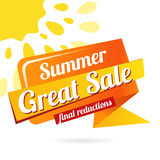 Web Banner sale summer Stock Photos