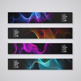 Web banner set with abstract colorful background, eps10 vector illustration. Stock Photos