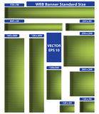 Web banner standard size. Green set. 10 pieces. Royalty Free Stock Images