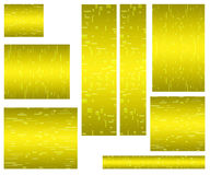 Web banner standard size yellow Royalty Free Stock Photos