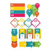 Web banner,stickers,speech bubble,bookmarks,labels,icons collection Stock Photos