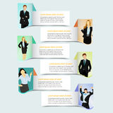 Web banner template design. With business people Stock Illustration