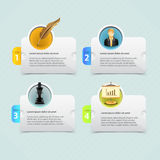 Web banner template design. With icon Royalty Free Stock Images