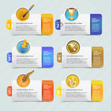 Web banner template design. With icon set Royalty Free Illustration