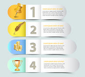 Web banner template design. Layout Royalty Free Illustration