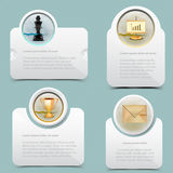 Web banner template. Layout design Stock Images