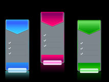 Web banner template vector set. With buttons Royalty Free Stock Photos