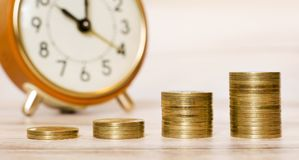 Web banner of time is money concept Stock Images