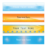 Web banner variations Stock Photography