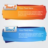 Web Banner Vector Design Template. Set Stock Photography