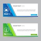 Web Banner Vector Element Design Template. Set vector illustration