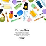 Web banner vector perfume bottles background illustration vector illustration