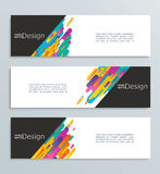 Web banner for your design, header template. Royalty Free Stock Photos