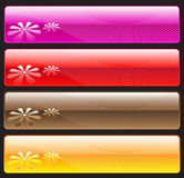 Web banners. Decorative banners for your website Royalty Free Stock Photos