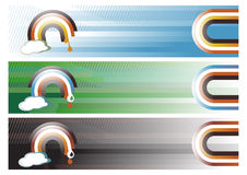 Web Banners. Vector illustration of three Rainbow Web Banners Stock Photography