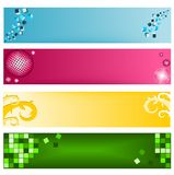 Web banners. Set of different kind of banners for web Stock Photos