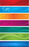 Web banners. Different color headers that can be used as web banners Royalty Free Stock Photos