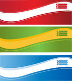 Web banners. A set of web banners of different colors Royalty Free Stock Photography